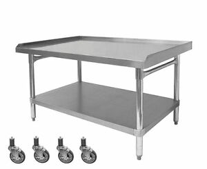 Ace Stainless Steel Equipment Stand W 4 Casters 30 w X36 1 2 l X 27 h Es s3036