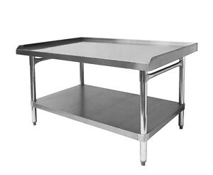 Ace Stainless Steel Equipment Stand W Galv Shelf 30 w X48 1 2 l X24 h Es s3048