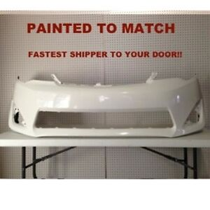 Fits 2012 2013 2014 Toyota Camry Front Bumper Painted To Match To1000378