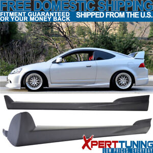 Fits Acura Rsx 02 06 Pu Mugen Style Unpainted Side Skirt Extensions Urethane