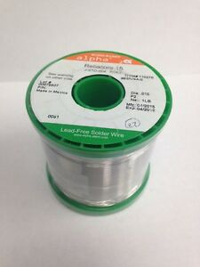 Alpha Reliacore 15 Wire Solder 110276 96sn 4ag 015 1 Lb