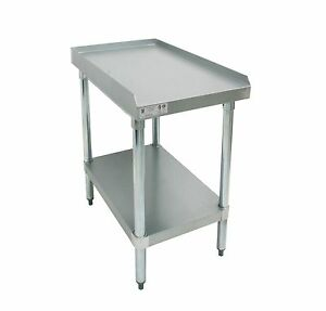 Ace Stainless Steel Equipment Stand W Galv Shelf 24 l X12 w X24 1 2 h Es s2412