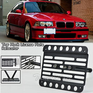 For 92 98 Bmw E36 3 Series Front Tow Hook License Plate Relocator Bracket New