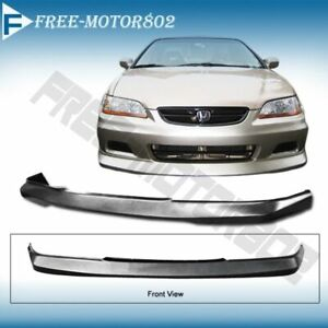 For 01 02 Honda Accord 2dr Front Bumper Lip Oe Style Urethane Pu