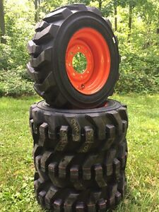 10 16 5 Carlisle Ultra Guard Skid Steer Tires wheels rims For Bobcat 10x16 5