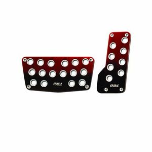 Universal Nitro Red Black Foot Pedals Pads Covers Automatic Transmission