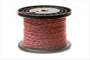 24 Awg Cross Connect Wire 1 Pair Cat5e Rated Red white R w w r 1000 Ft