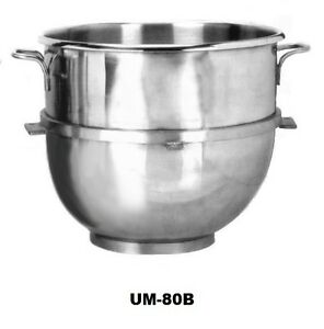 Uniworld Hobart type 80 Qt Stainless Steel Mixer Bowl Assembly Um 80b