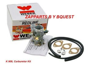 Bmw 2002 Carburetor Kit Weber Redline K 909 Replaces Solex 1 Barrel Carb