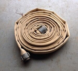 2 X 50 Npsh Lay flat Canvas Discharge Water Hose Assembly Male female Ends 2