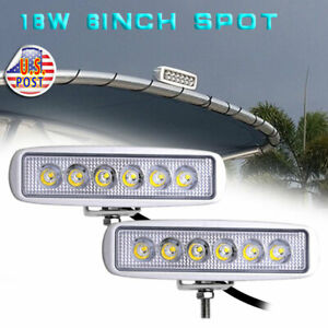 2pcs Spreader Led Deck Marine Lights For Boat Spot Light 12v 18w White