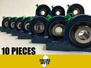 10 Pieces 1 2 Pillow Block Bearing Ucp201 8 Solid Foot P201