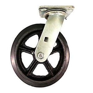 10 X 2 Heavy Duty rubber On Cast Iron Caster Swivel