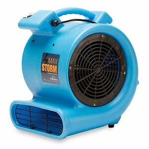 Soleaire Max Storm 1 2 Hp Air Mover Carpet Dryer Blower Floor Fan Blue