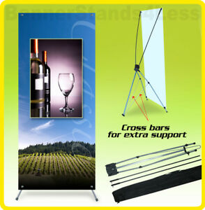 10 Pack 24x63 Tripod X Banner Stand Trade Show Display Xstand Wholesale 60x160