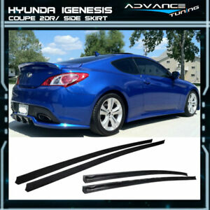 Fit For 10 12 Hyundai Genesis Coupe 2dr Side Skirt Urethane Pu Unpainted Black