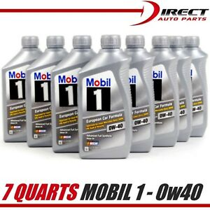 7 Qts 0w40 Genuine Mobil 1 Fully Synthetic Motor Oil 7 Quarts New Stock