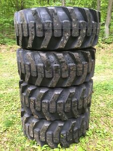 4 New Galaxy Xd2010 12 16 5 Skid Steer Tires For Bobcat Others 12x16 5 12 Ply