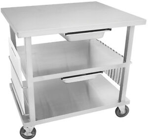 Gsw Stainless Steel Work Top Cart Nsf W 5 Swivel Casters Wt mf3630