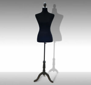 Female Mannequin Tailor Dress Form Torso Dressmaker Display W Stand Black m