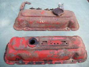 Two 1970 80 S Gm Buick V6 Valve Covers Bolts Used Parts Read Description