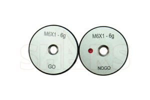 Shars M6 X 1 Go No go Thread Ring Gage 2pcs Set New