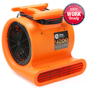 Air Mover 3 Speed 1 Hp Blower Fan Stackable Industrial Orange
