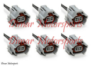6 Denso High Impedance Female Fuel Injector Connector Electrical Plug Pigtail
