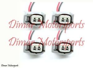 4 Toyota Female Fuel Injector Connector Electrical Plug Clip Pigtail