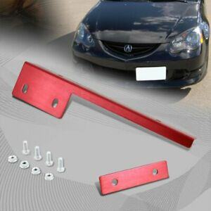 Jdm Brush Magenta Red Aluminum Bumper Front License Plate Mount Relocate Bracket