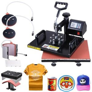 12x15 5in1 Digital Heat Press Machine Transfer Sublimation T shirt Mug Hat Print
