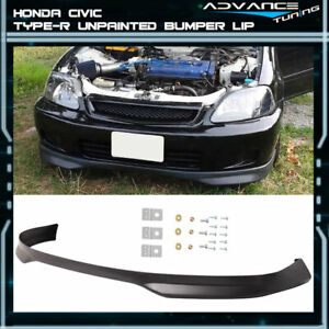 For 96 98 Honda Civic Type R Front Bumper Lip Unpainted Pp