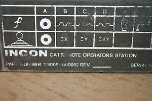 Incon Operator Station 99005 000002 Used 19320