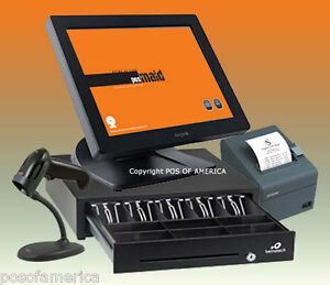 Posiflex Pos Maid For Retail All in one Station Complete Bundle New