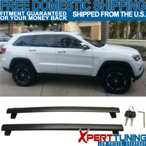 Fit For 11 18 Grand Cherokee Oe Black Roof Rack Rail Cross Bar With Key Lock