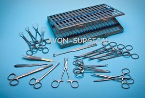 New O r Grade General Basic Surgery Kit Spay Pack Dental Surgical Instruments