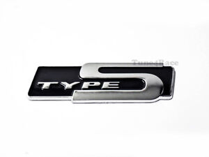 Type S Black Emblem Badge Sticker Decal For Honda Acura Rsx New