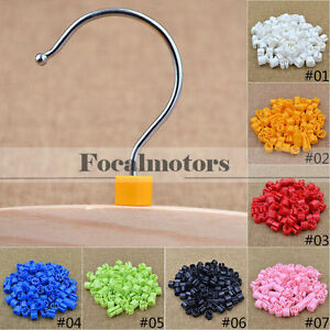 Plastic Snap On Hanger Size Markers Garment Sizers Donuts Cubes 100pcs New