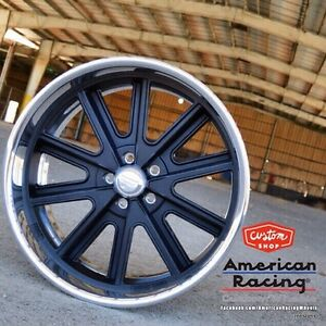 17x8 American Racing 407 S Shelby Cobra Wheels Gm Chevy Ford Mustang Mopar