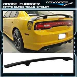 Fits 11 18 Dodge Charger Srt Matte Black Finish Rear Trunk Spoiler Wing Abs