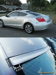 2008 09 Unpainted Honda Accord 8 Coupe 2d K style Roof Spoiler Wing