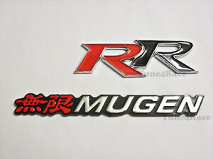 For Honda Mugen Rr Emblem Red Logo Badge Sticker Civic Accord Si Sir Jdm New