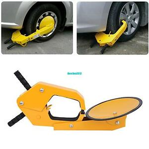 Yellow Parking Car Truck Tire Claw Boot Wheel Clamp Trailer Lock Anti Theft