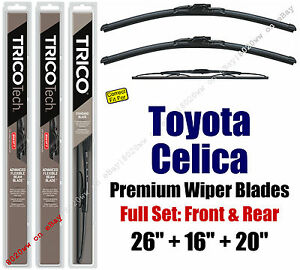 Wipers 3 Pack Premium Front Rear Fit 2000 2005 Toyota Celica 19260 160 30200