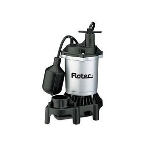 Sta rite Fpzs50t Flotec Submersible Sump Pump With Tethered Switch 1 2 Hp