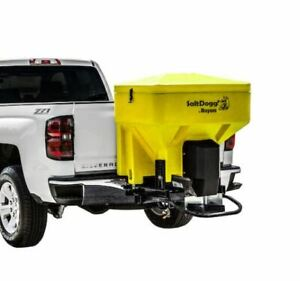 Saltdogg buyers Products Tgs03yel 8 Cubic Foot Pickup Salt Spreader Yellow