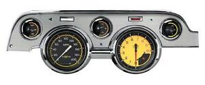 Classic Instruments 67 68 Ford Mustang Gauges Cluster W Brushed Aluminum Bezel