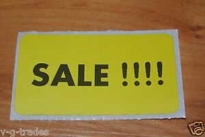 Lot 200 Yellow Self adhesive Sales Price Labels Stickers Tags Retail Store