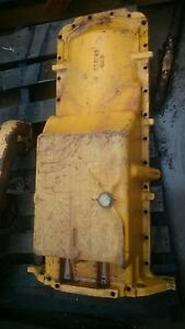 John Deere Tractor Loader Construction Engine Oil Pan R73192 6619 Good Condition