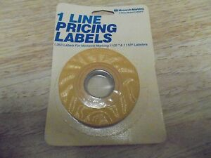 Monarch 1 Line Pricing Labels 925008 Yellow 1 065 Label For 1105 1110 Labelers